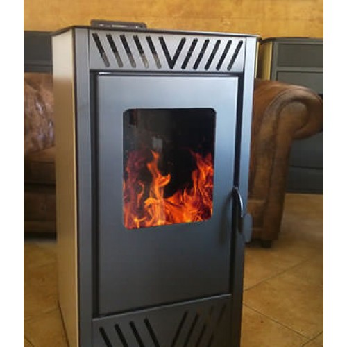 Estufa de pellets de aire caliente 8kw venta e - Estufas de pellets fabricadas en espana ...
